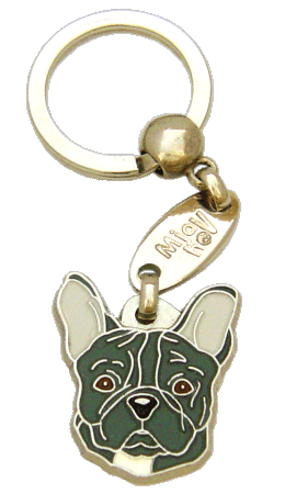 FRENCH BULLDOG GREY - pet ID tag, dog ID tags, pet tags, personalized pet tags MjavHov - engraved pet tags online